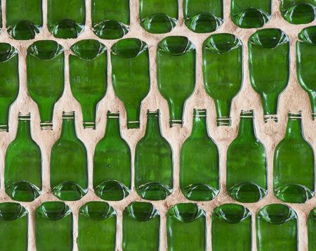 Empty green bottle photo