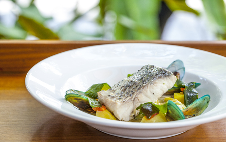 tilapiini: fish steak Stock Photo