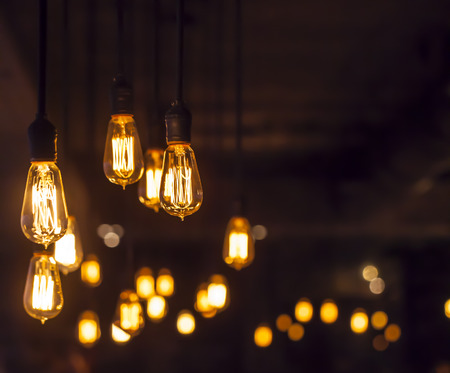 chandeliers: light bulb Stock Photo