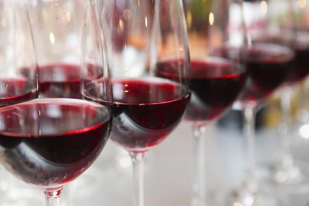 glazen wijn Stockfoto