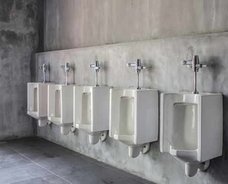 white urinals in men