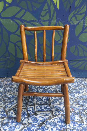 Simple wooden chair  photo