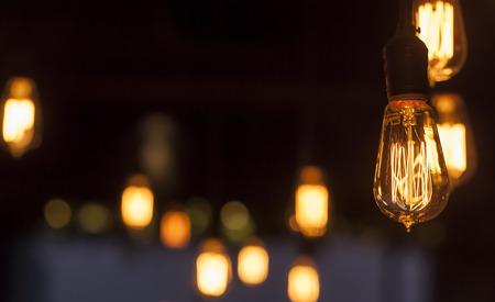 leuchtend: Glühbirne Lizenzfreie Bilder