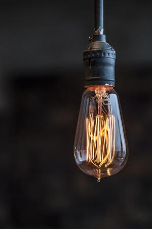 classic light bulb: beautiful lighting decoration Stock Photo