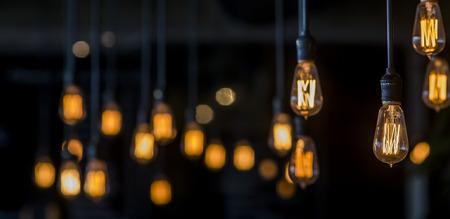electricidad: Decoraci�n Luces Vintage Foto de archivo