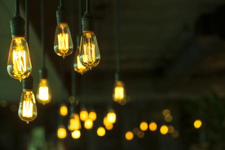 bombillo: decoraci�n de iluminaci�n Foto de archivo