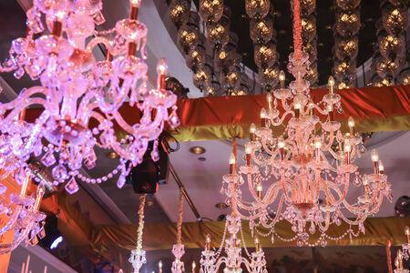 chandelier in luxury room