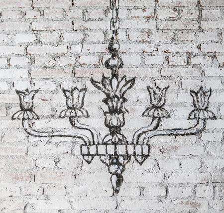 chandelier: chandelier wall Stock Photo