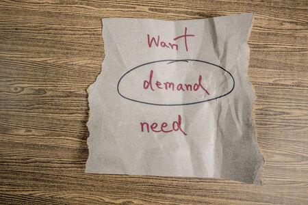 in demand: demand