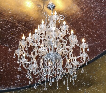 Chrystal chandelier close-up.