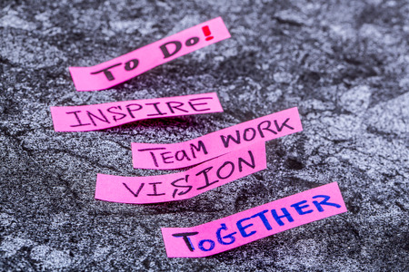 inspire  team work  vision Banque d'images