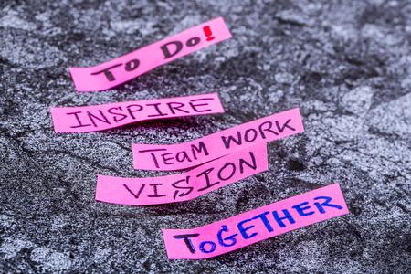 Inspirieren Teamarbeit Vision Standard-Bild - 36784211