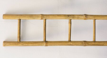 backstairs: Wooden ladder Stock Photo