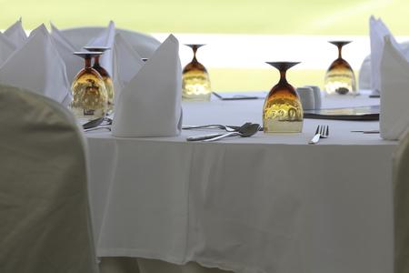 outdoor restaurant: Empty outdoor restaurant