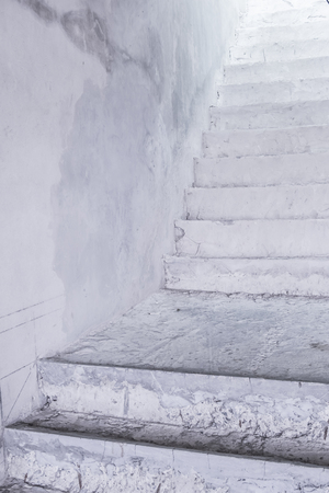 housebuilding: cement stairs Stock Photo