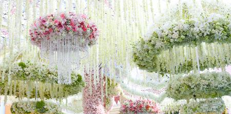 décor floral pour l'événement élégant