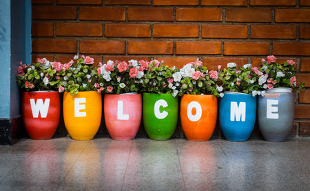 welcome symbol: flower welcome