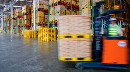 lift truck: folk lift truck in factory