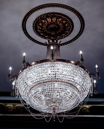 drop ceiling: luxurious crystal chandelier