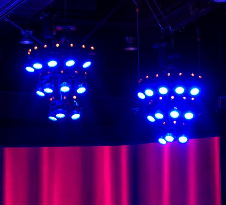 a symphony: Blurred background orchestra symphony Stock Photo