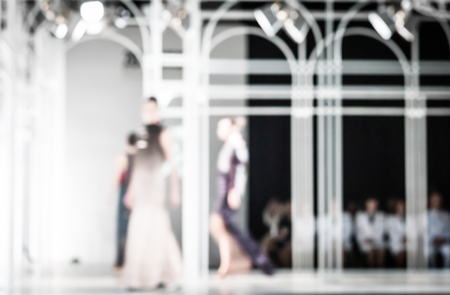 runway fashion: Fashion runway out of focus