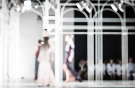 fashion runway: Fashion runway out of focus