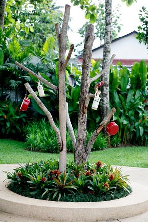 pineal: tree decor Stock Photo