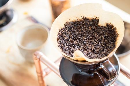 hand drip koffie