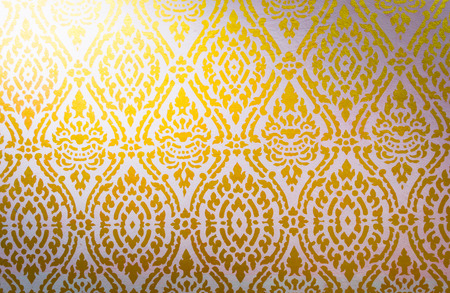 lai thai pattern background with light from corner