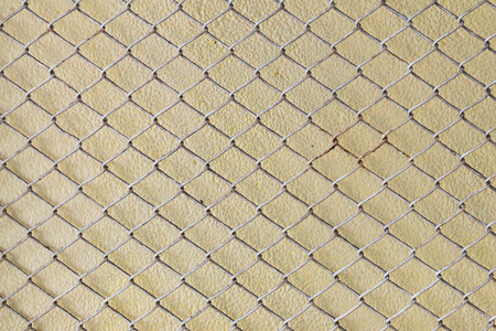 steel wire mesh fence wall background