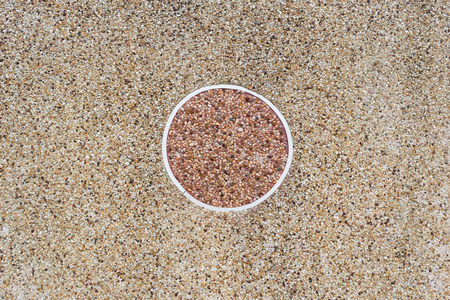 sand stone wall background texture with circle in middle