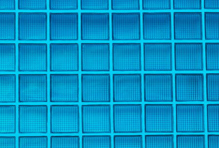 blue glass block wall background