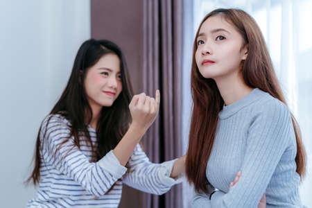Asian lesbian model