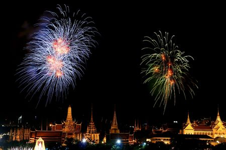 Feuerwerk in Celebration Tag in Thailand Standard-Bild - 6666691