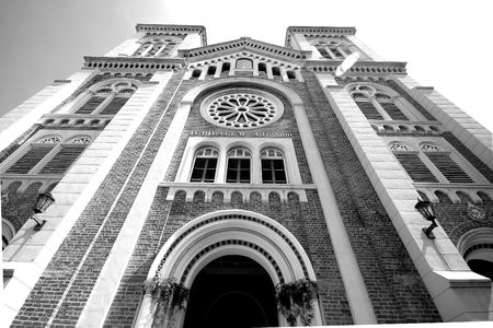 Annahme-Kathedrale in Bangkok thailand Standard-Bild - 6716449