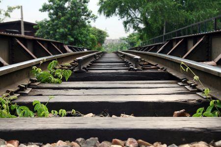 Rail-Way in Bangkok city Standard-Bild - 6715855