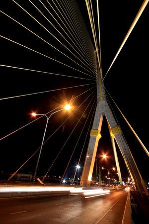 Rama-Eight-Brücke bei Nacht, Bangkok  Standard-Bild - 6716039