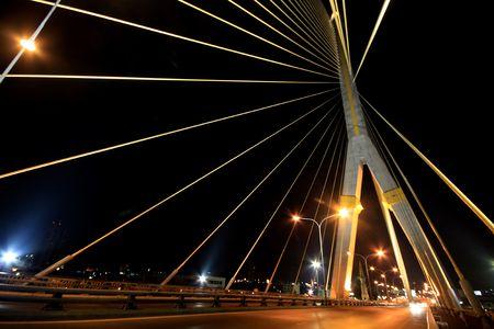 Rama-acht-Brücke bei Nacht, Bangkok  Standard-Bild - 6716050