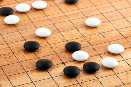 Detail des traditionellen japanischen Spiel GO  Standard-Bild - 6736122