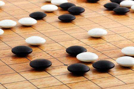 detail of traditional japanese game GO Stock Photo - 6736126