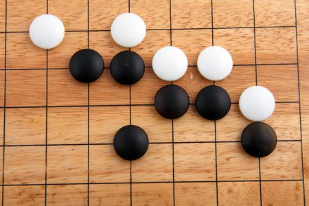 strategical: detail of traditional japanese game GO  Stock Photo