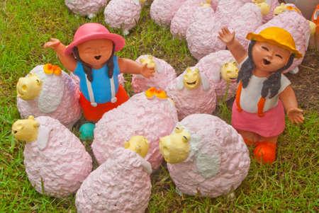 Earthenware doll of dan kwian village , NakornRatchasima, thailand