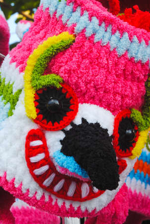 Monster  crocheted hat , loei , thailand Stock Photo - 11418813