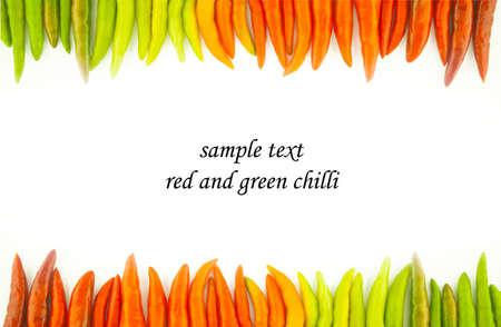 breen: red and breen chilli Stock Photo