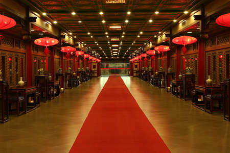 red lantern: Oriental Red Carpet from China Stock Photo