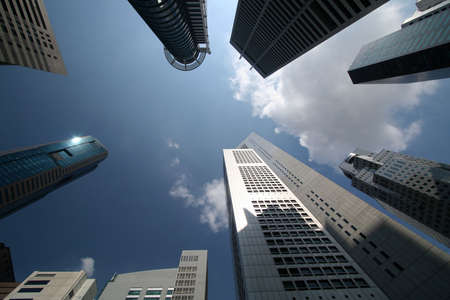 high rises: Office Towers from Very Low Angle