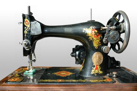 antique sewing machine from the early 1900s.