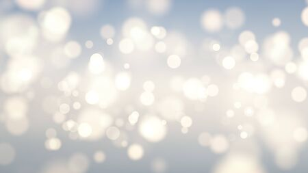 Abstract golden bokeh lights with soft light background.