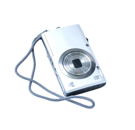 megapixel: digital camera, isolated on white.