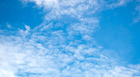 ozone layer: Blue sky and clouds as natural background Stock Photo